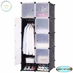 Tupper Cabinet 8 Cubes White Doors Black Diy Storage Cabinet With Shoe Rack By Lucky313.