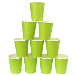 UJS 10Pcs Colourful Paper Tableware Cup Party Wedding Events Drinking Green (Intl)