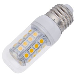 UJS E27 5W 38LEDs SMD 5050 Light Corn Bulb Warm White 200V With Cover (Silver+White) (Intl)