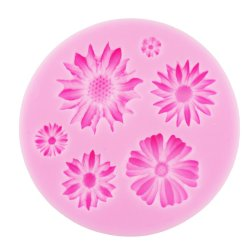 UJS Flower Silicone Baking Mold (Pink) New (Intl)