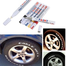 Universal Whatproof Permanent Car Motorcycle Tyre Tread Rubber Paint Marker Pen Red - intl
