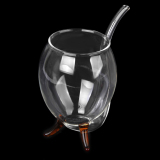 Vampire Red Wine Glass Sucking Cup Mug Drinking Tube Straw With Tan Feet - thumbnail 4