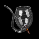 Vampire Red Wine Glass Sucking Cup Mug Drinking Tube Straw With Tan Feet - thumbnail 3