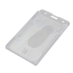 Velishy Card Holder Clear Vertical Hard Plastic 10x6cm