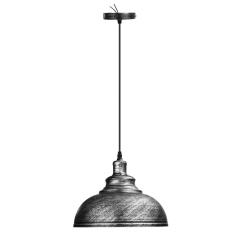 Vintage Ceiling Light Retro Pendant Lamp Industrial Loft Iron Chandelier Fixture Silver - intl
