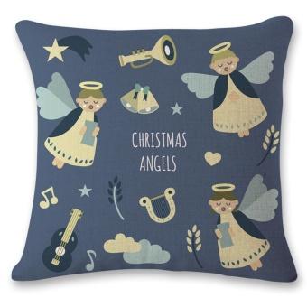 Vintage Christmas Sofa Bed Home Decor Pillow Case Cushion Cover A - intl