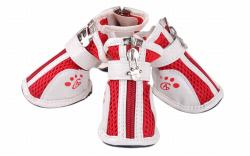 Vococal Fashion Anti-Slip Mesh Zipper Pet Shoes Accessories (Red)
