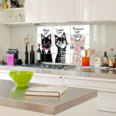 Wall Sticker Anti Oil For Kitchen High Temperature Resistant Decal - intl