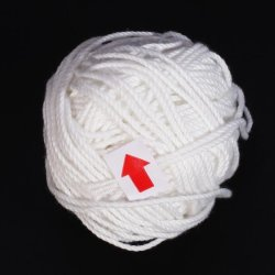 White Cotton Clew Ball Binding Twine Thread 26m