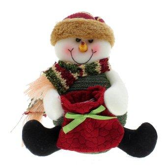 Whyus Christmas Cute Funny Reindeer Snowman Santa Claus Decorating Ornament Candy Bag Snowman - INTL