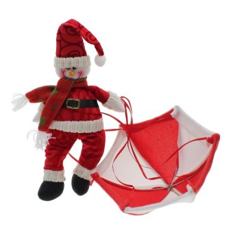 Whyus Santa Claus Snowman Doll Toy with Parachute Christmas Festival Party Decor Gifts Snowman - INTL