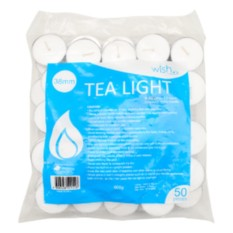 Wish Tea Light Candle In Bag X50s By Watsons Personal Care Stores.