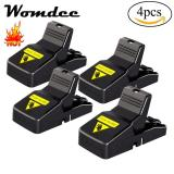 Womdee Mouse Trap, Quick Kill Super Sensitive Reusable Mice/Rat Trap Catcher And Safe For Child, Dog,Cat, 4 Pack - intl image on snachetto.com
