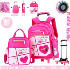 9b6766387a New Style Young Student s Trolley bag bags women 3-4-6 Grade Children Triple