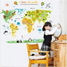 Wall stickers for sale wall decals prices brands review in world map kids child room decor removable wall sticker wall decals mural gift intl gumiabroncs Image collections