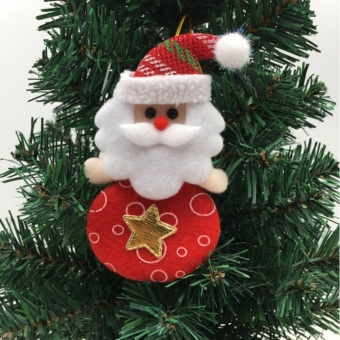 Xmas Santa Snowman Tree Ornaments Decorations Hanging Pendant Christmas Gifts Santa Claus - intl