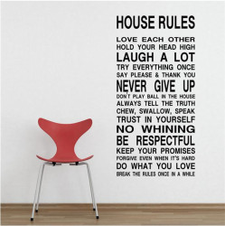 YiKa  Houese Rule Wall sticker (Black)