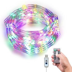 YJJZB LED String Lights 33ft 100pcs LEDs Copper Wire With Infrared Remote Control Waterproof 360°