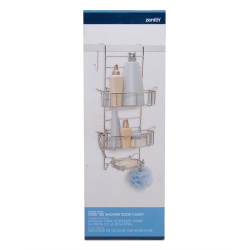 Zenith Door Shower Caddy Adjustable (Chrome) - for your shampoo, body wash, deodorant