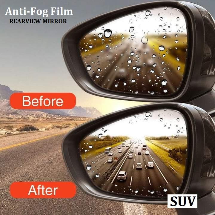 2Pcs Car Rearview Mirror Protective Film Anti Fog (sUv)