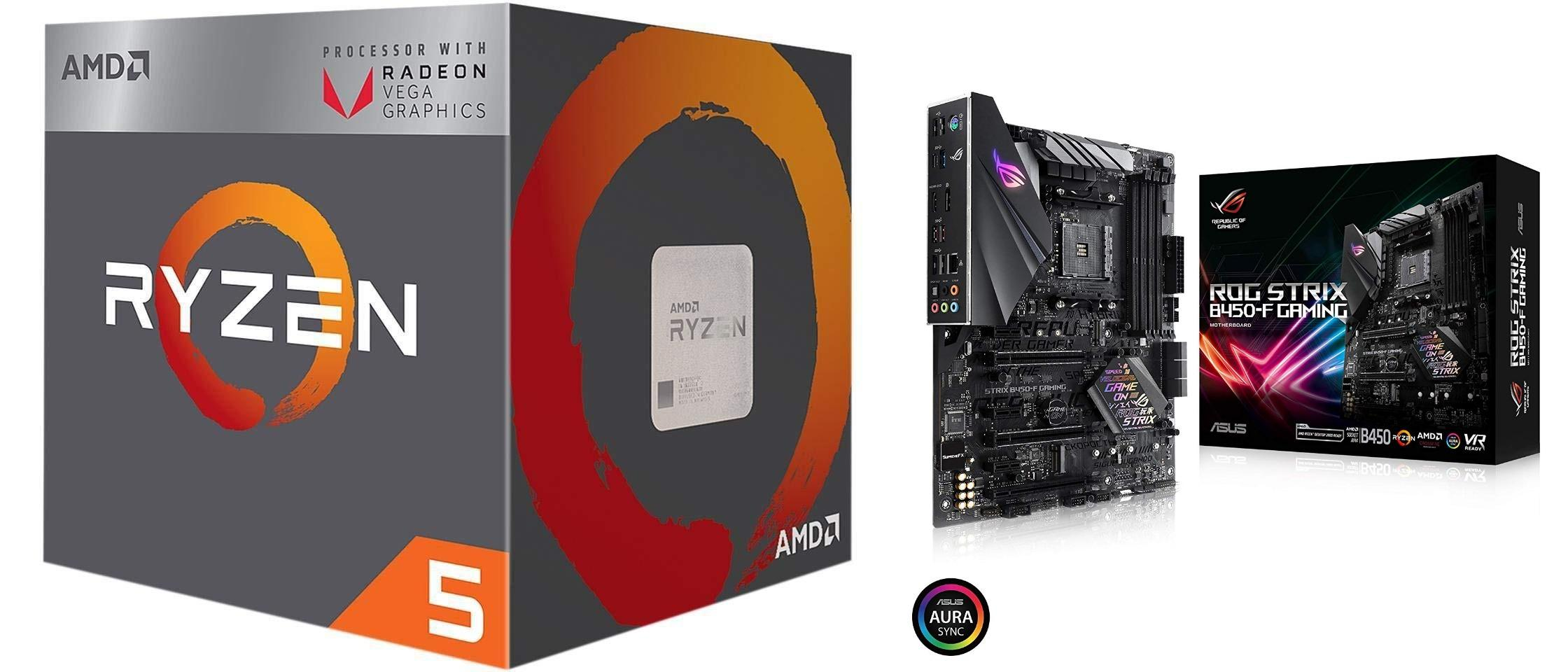 AMD Ryzen 5 2400G Bundle with ASUS ROG Strix B450-F Gaming Motherboard (ATX)