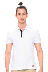 Bobson Men's Combi Polo Tee (White)
