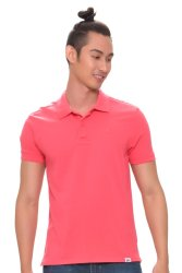 Bobson Men's Solids Polo Tee (Pink)
