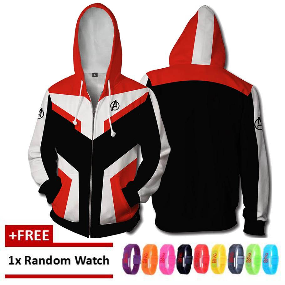 89c8d401fb14  Free Gift  Men The Avengers Marvel Hooded Lovers Cool Loose Zipper  Sweatshirt Couples Gift