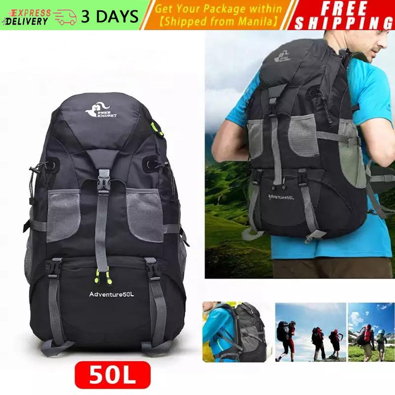 919d0684d329 [Free Shipping] Outdoor Hiking Backpack Sport Camping Travel Shoulder Pack  Bag Water Resistant Climbing Mountaineering Backpacking Trekking Bag 50L