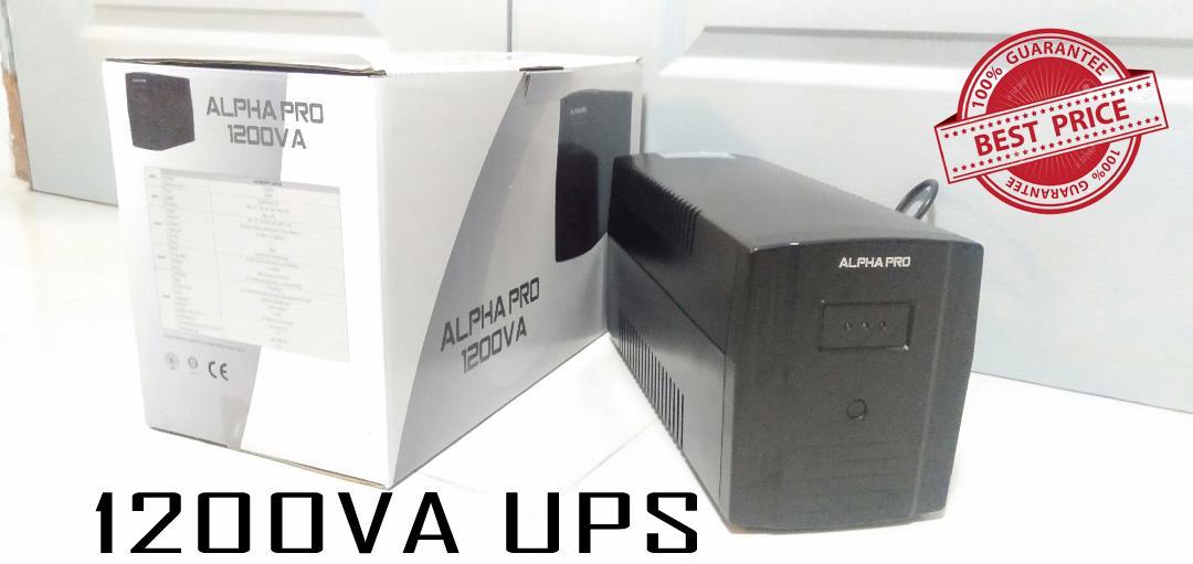 UPS, Alpha Pro 1200VA Uninterrupted Power Supply  (alternative brand to