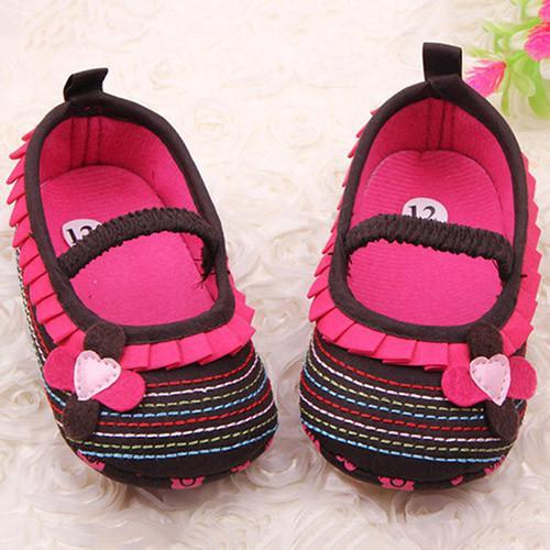 2de2d0c6a358 Phoenix B2C Toddler Infant Baby Girl Flower Shoes Crib Prewalker Newborn To  18 Months Babyshoes (