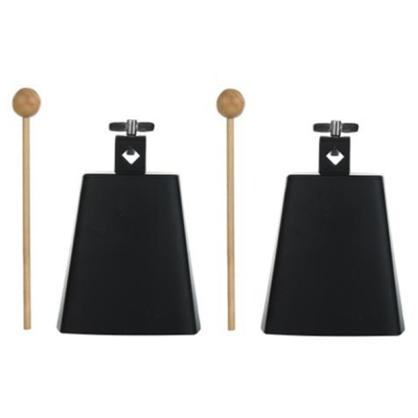 2Pcs 5 Inch Cow Bell Noise Maker Cowbell Percussion Instrument with Handle Stick for Drum Set Kit Percussion Malaysia