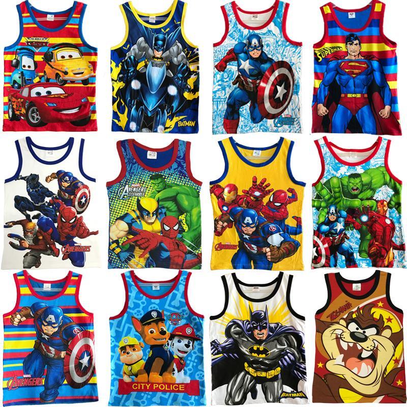 cf793d72e Bella Boy Cotton Sando Character Kids T-Shirts M-arvel printing top 1-