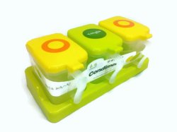 Condiment Storage with Spoon Set (Green)