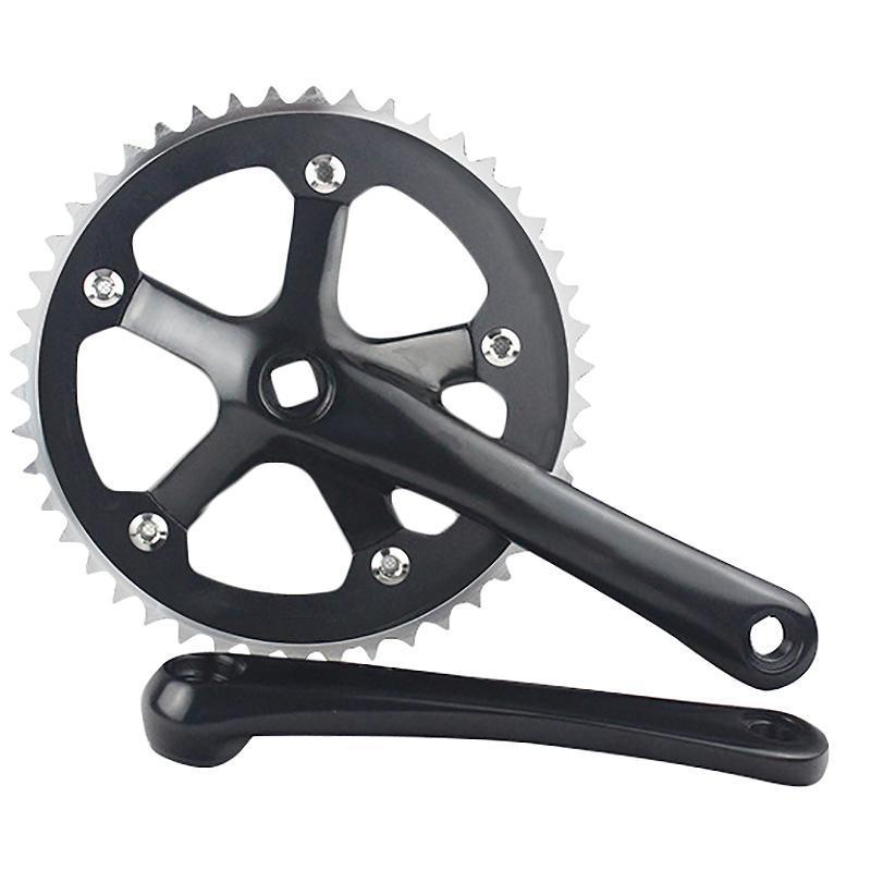 Mua Road Bicycle CNC 44T Black Crankset 6061-T6 Aluminum Alloy Chainring Crank Chainwheel Fixie