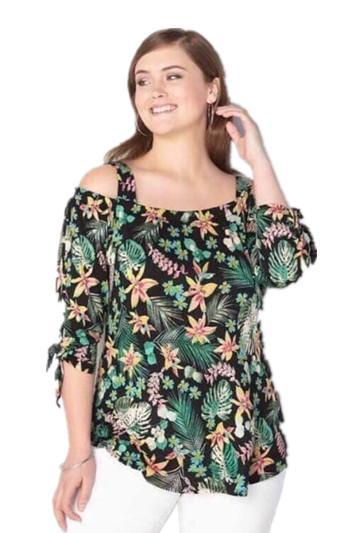 e3a5a14de92623 Sebrina store fashion hot style cold shoulder plus size blouse for women  trendy tops cold shoulder