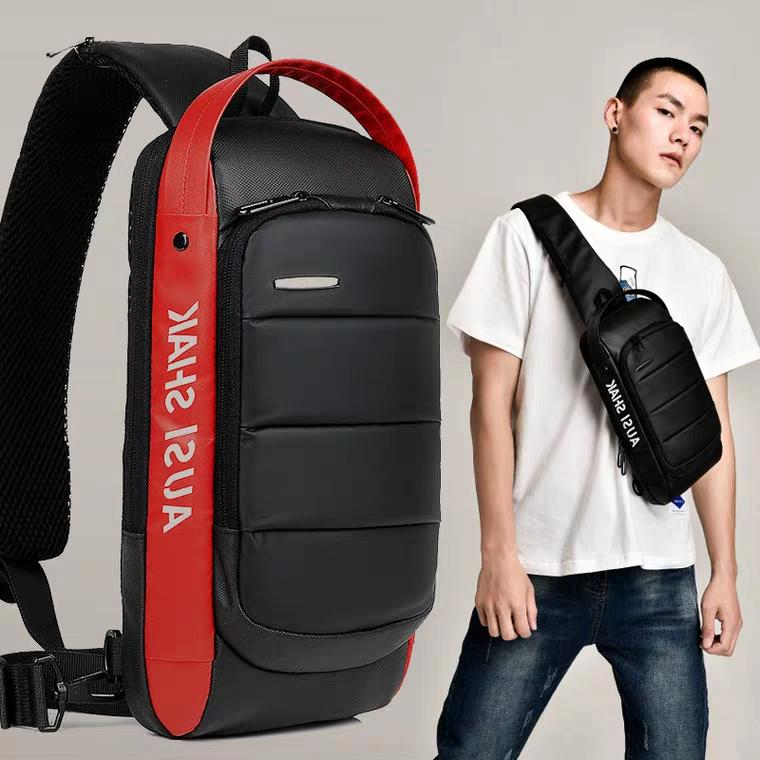 Top Men Anti Theft Crossbody Sling Bags Chest Shoulder Bags Messenger Travel Bags Cross Body image on snachetto.com