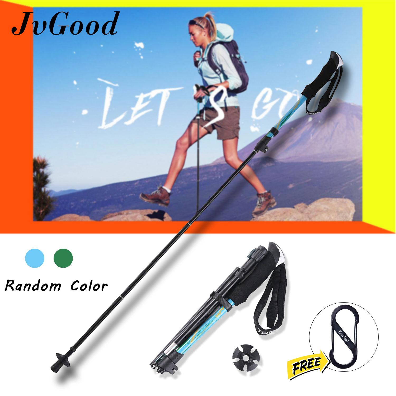 e8f3d42de35 JvGood Trekking Poles Hiking Walking Stick Outdoor Hiking Cane Trail Poles  Walking Cane Adjustable Anti-