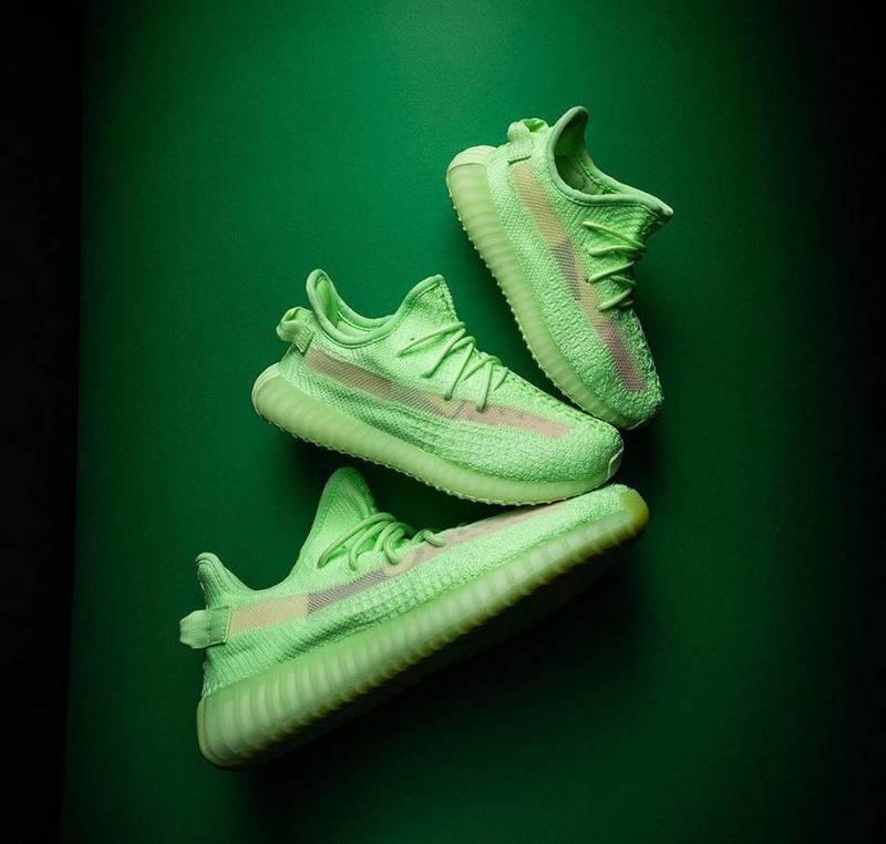 Original_Adidas_Yeezy Boost 350 V2 Glow In The Dark EG5293 Men/Wowen Fashion Sports Running Shoes Bất Ngờ Ưu Đãi Giá