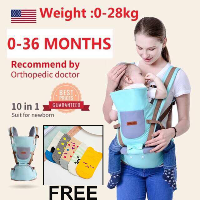 0-36 Months Breathable Multifunctional Ergonomic Baby Carrier Infant Comfortable Sling Backpack Hip Seat By Baby Zone.