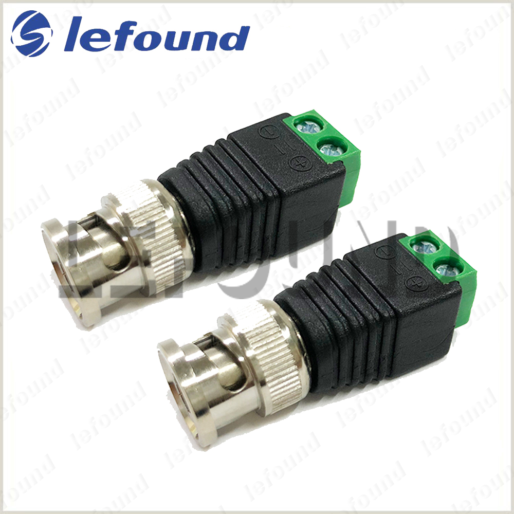 10PCS x BNC Video Balun Cat5//Cat6 Cable to BNC Male Connector for CCTV Camera