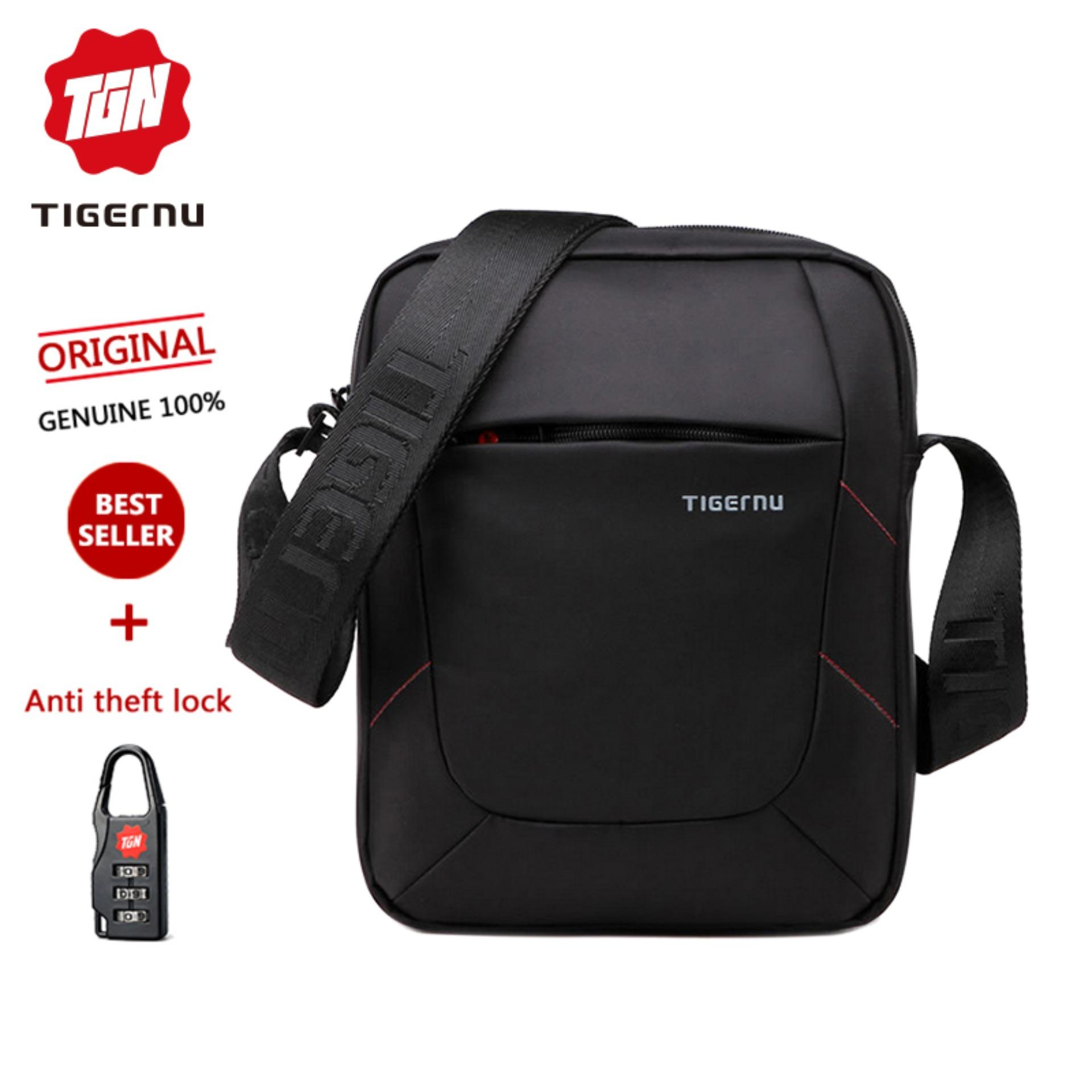 Tigernu Brand Hottest Sale Water-Resistant Scratch Proof Casual Messager Travel Men Business Shoulder Sling Bag For Men Fashion Bag For Phone&wallet 5108(black) By Tigernu Brand Official Store.