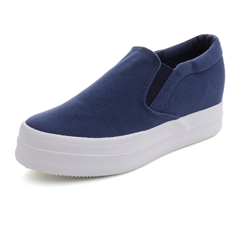 free shipping ef567 c441a QQS 2018 New Korean Version Of A Pedal Lazy Canvas Shoes(6036)