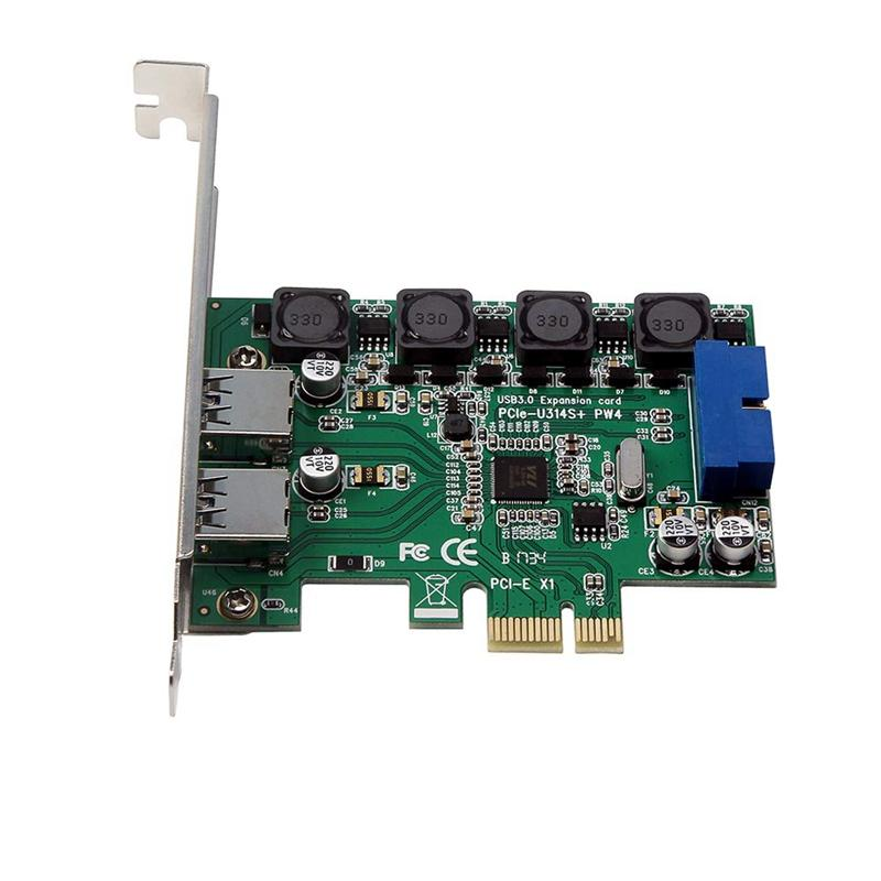 High-Speed 2-Port Usb 3.0 19-Pin To Pci-E Expansion Card Pci Express Adapter Converter Card for Desktop Pc