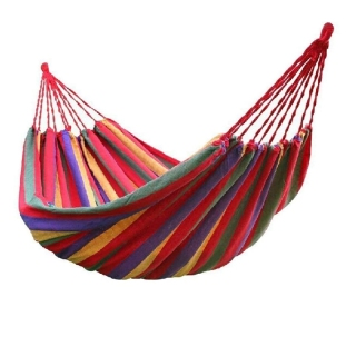 185X80cm Hammock 1 Person Outdoor Leisure Bed Travel Camping Hanging Hammock Swing Lazy Chair thumbnail