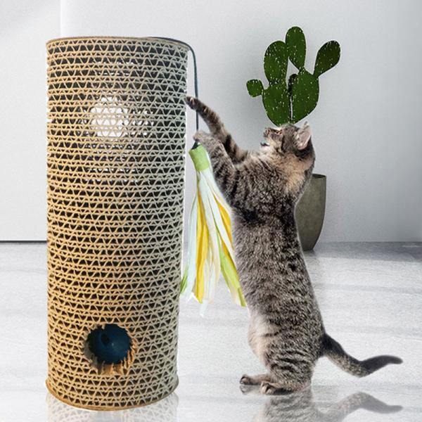 Aliname Cột Kẹp Mèo Gợn Sóng Sáng Tạo 2 Trong 1 Bảng Kẹp Mèo Đồ Chơi Tương Tác