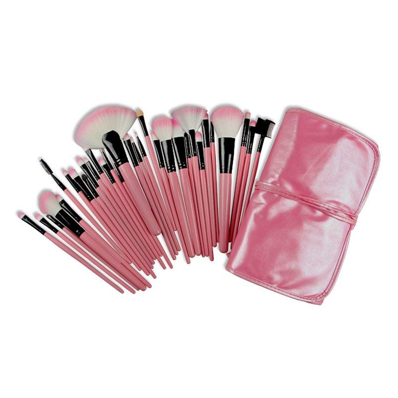 32-Piece Make-up Brush Set (Pink) - thumbnail