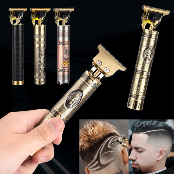 Fzbm Mens Oil Head Electric Hair Clippers Engraving Marks Kéo cắt tóc Electric Clippers Rechargeable Retro Household