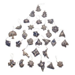 CD-01 Christmas Decoration Assorted Design (Blue) 6-piece Set