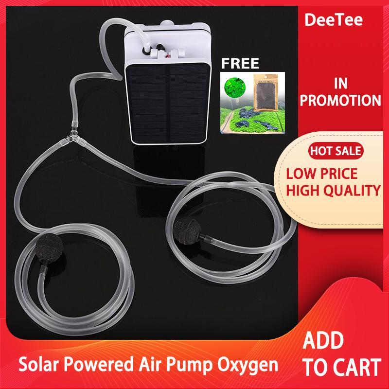 7b4693fb233  FREE GIFT DeeTee Solar Powered Waterproof Oxygenator Aerator Air Pump  Oxygen for Outdoor Pool